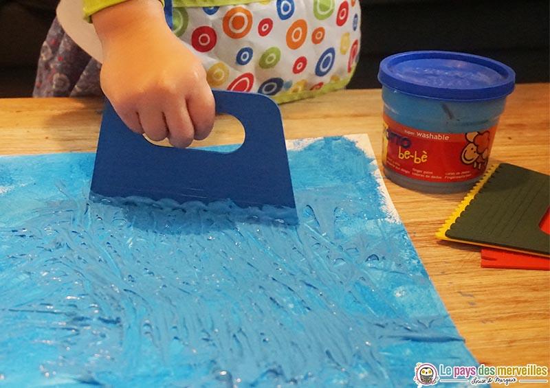 Créer des textures avec un peigne