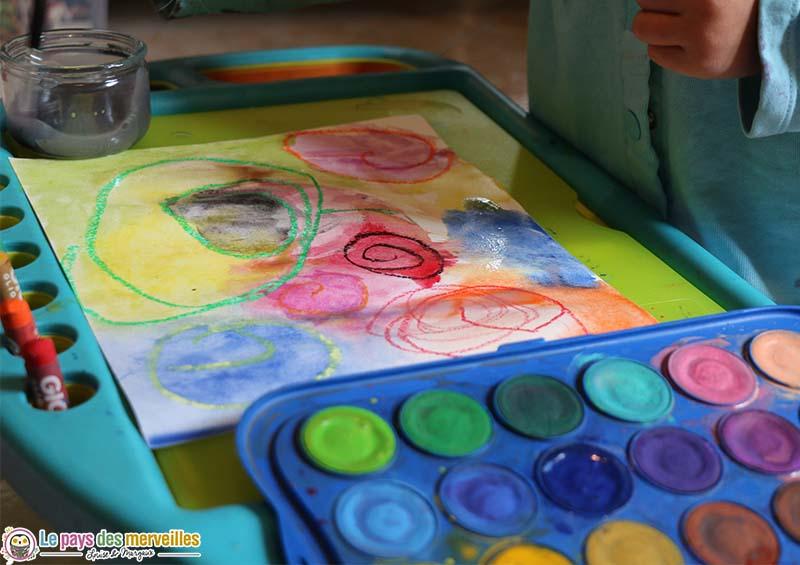 art visuel maternelle, grapshime les spirales