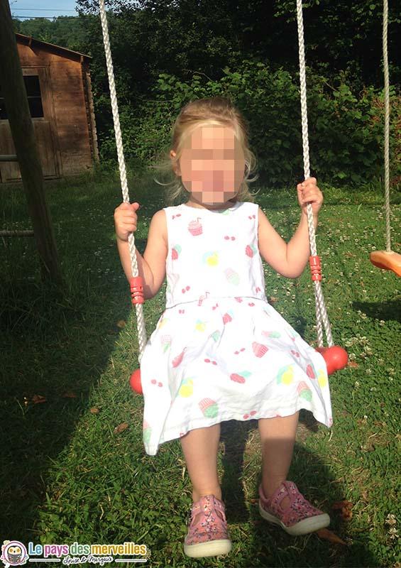 balancoire fille 3 ans