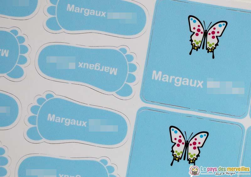étiquettes personnalisées pour la rentrée à l'école