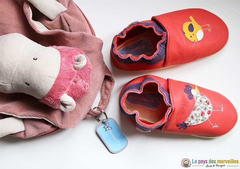 étiquettes personnalisées pour les chaussons et le sac en maternelle