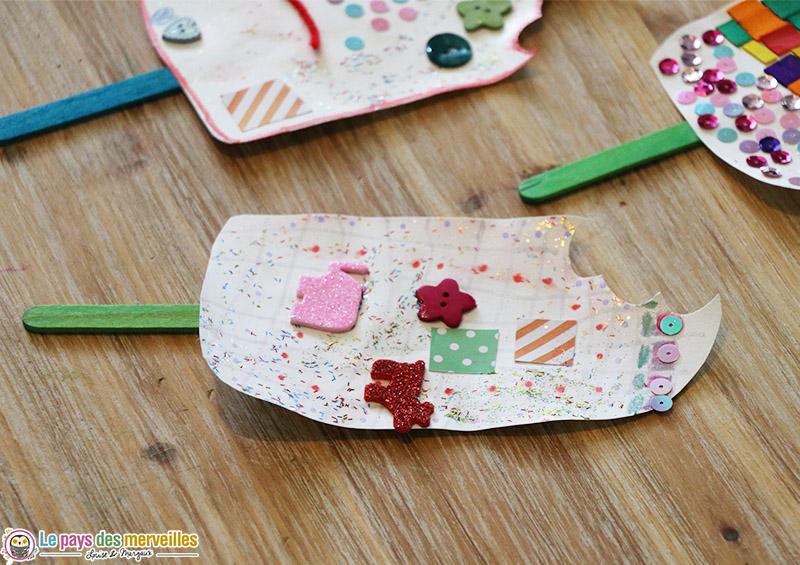 glace en papier décorée