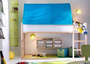 lit en hauteur et en bois
