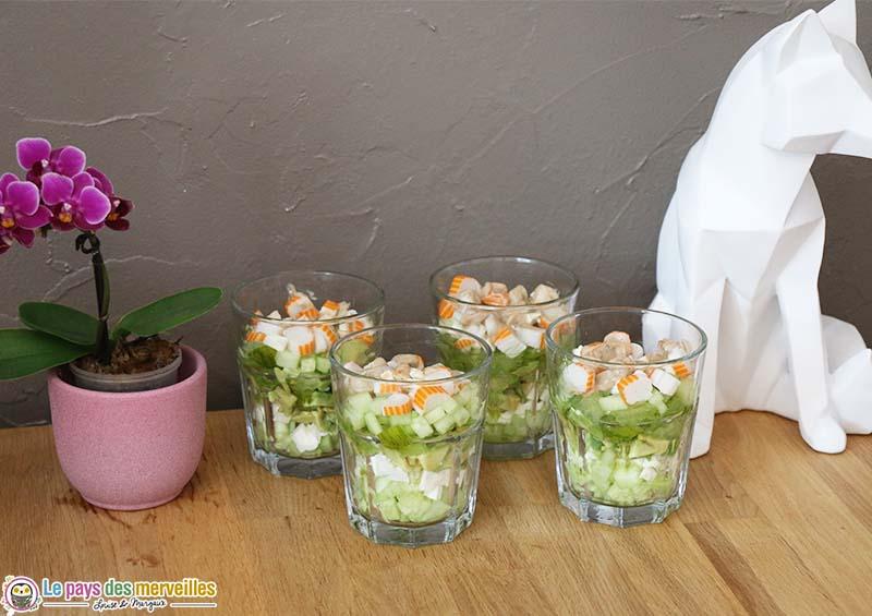 Salade de crudités en verrine