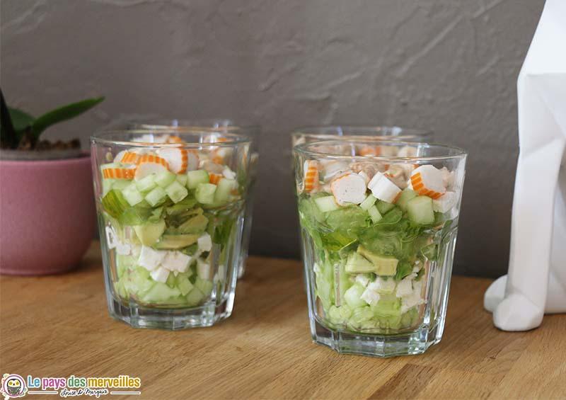recette salade en verrine