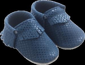 chaussons en cuir avec des franges pour bébé