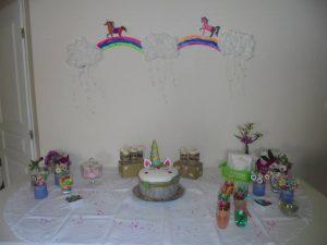 decor fête anniversaire licorne