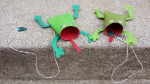 grenouille en rouleau de papier toilette