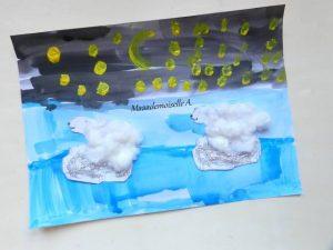 tableau peinture enfant ours polaire