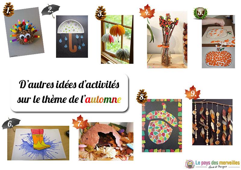 idées d'activités pour l'automne