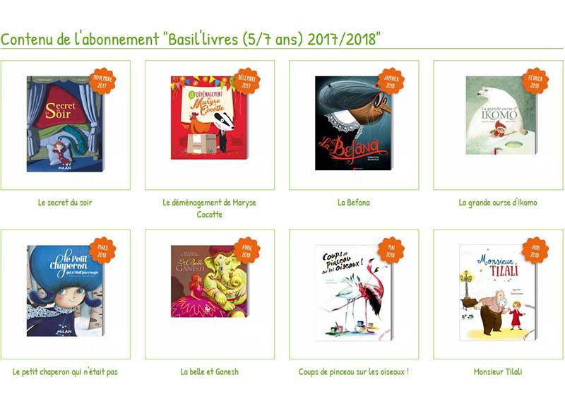 Abonnement Basil'livres bouquet d'histoires