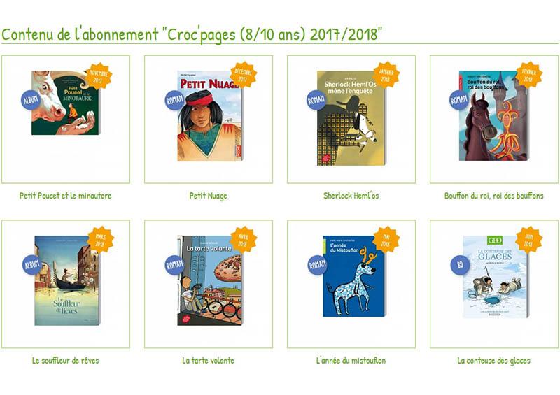 Abonnement Croc'pages bouquet d'histoires