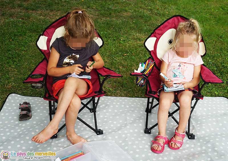 chaise de camping pour les enfants