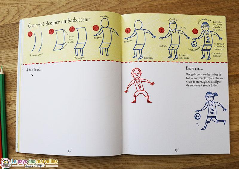 comment dessiner un basketteur