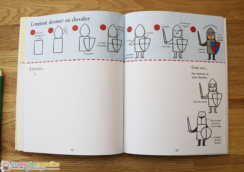 Comment dessiner un chevalier pas à pas