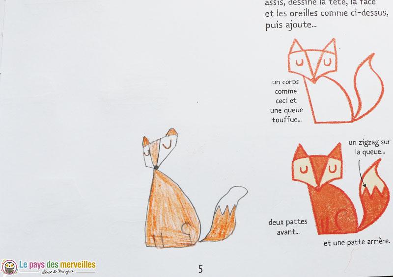 Etapes pour dessiner un renard