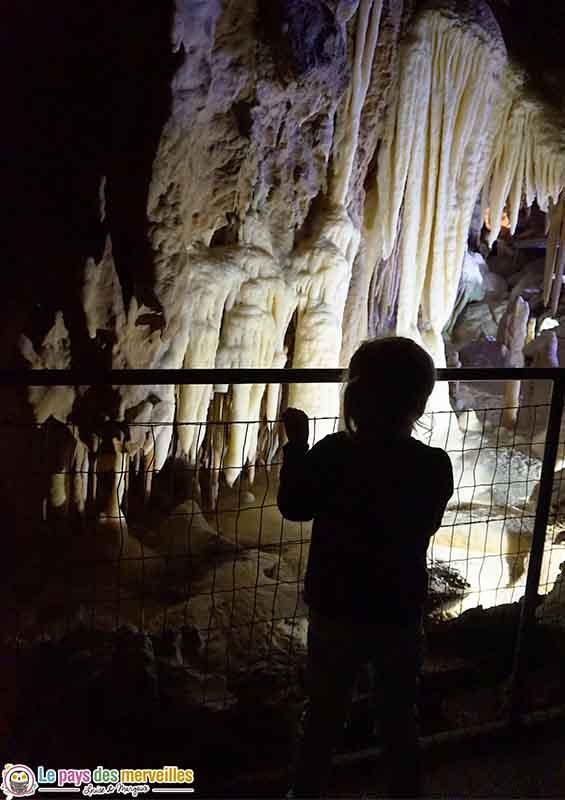 stalactites grottes des Canalettes
