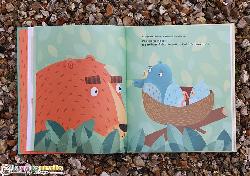 """Illustration du livre """"L'Ours qui fixe"""""""