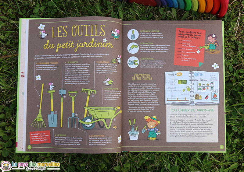 les outils du petit jardinier