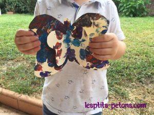 Peinture papillon avec un bouchon de liege
