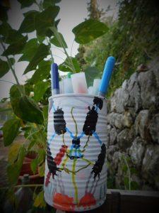 pot à crayons boite de conserve