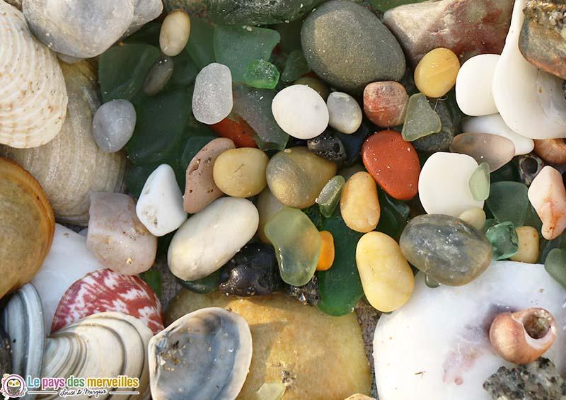 verre poli par le sel de mer