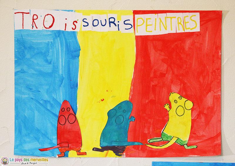 Trois souris peintre Cp
