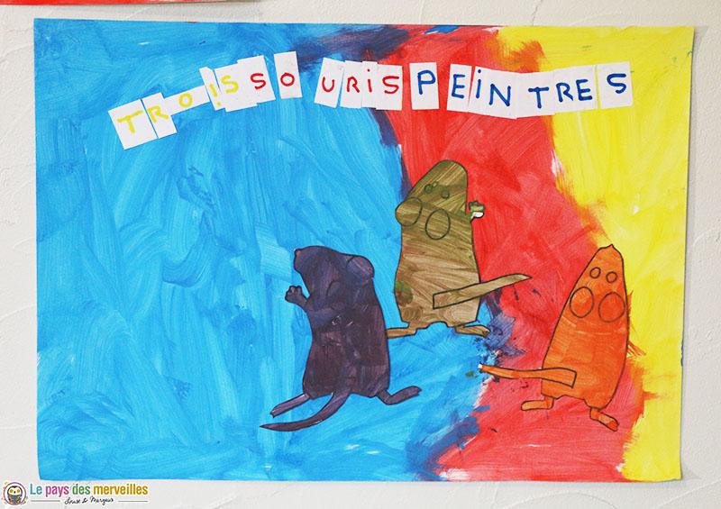Trois souris peintres petite section maternelle