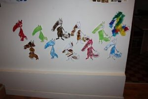 activité sensorielle autour du livre Le loup qui voulait changer de couleur