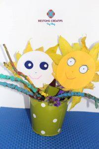 bricolage automne pot fleurs