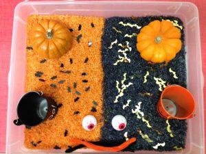 bac sensoriel halloween