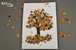bricolage arbre d'automne avec une perforatrice