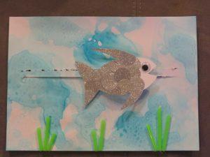 activité à partir du livre Arc-en-ciel, le plus beau poisson des océans