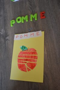 puzzle collage pomme