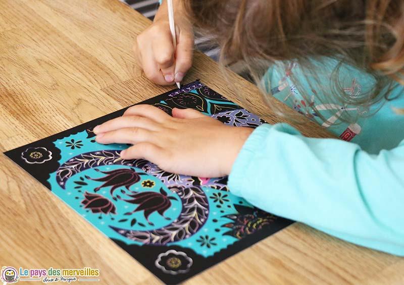 carte à gratter pour enfant de 6 ans