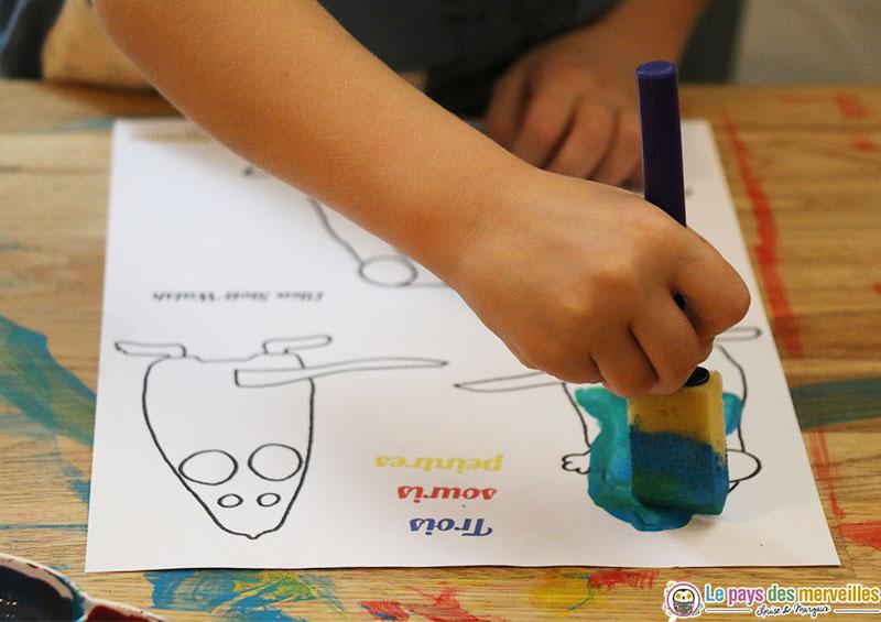 coloriage trois souris peintres