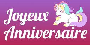 Anniversaire Licorne Pour La Fête Danniversaire De Ses 6 Ans