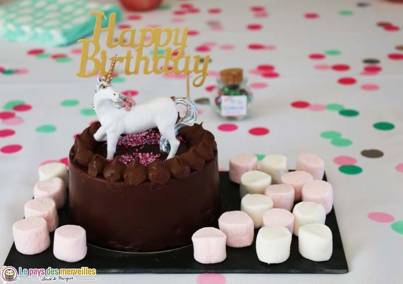 gâteau d'anniversaire au chocolat Picard