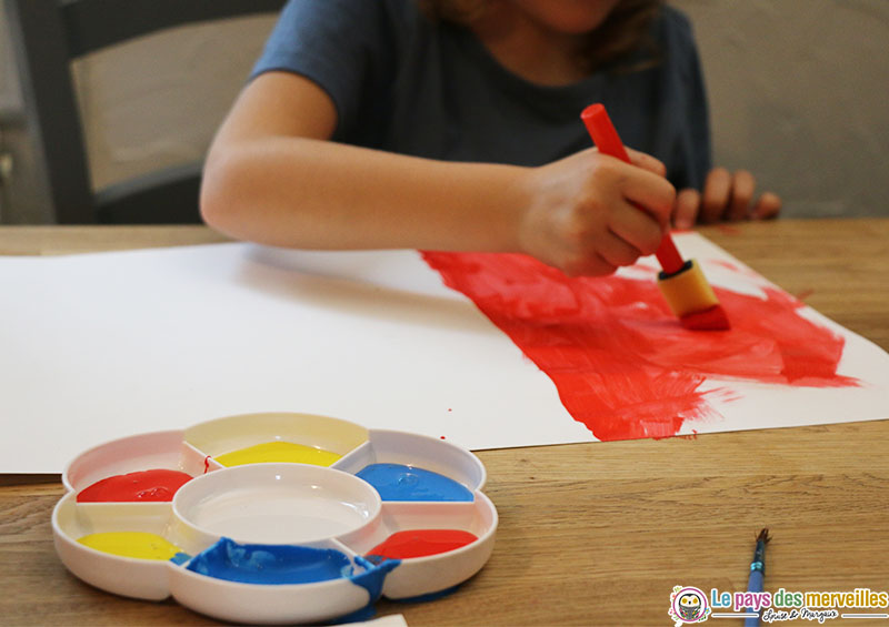 peinture gouache rouge