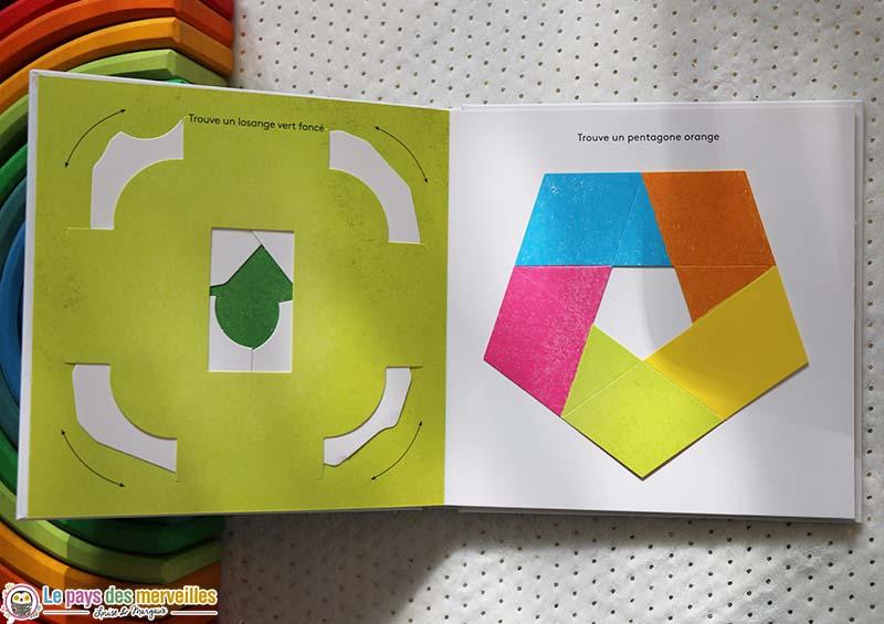 livre animé dans lequel on doit retrouver des formes