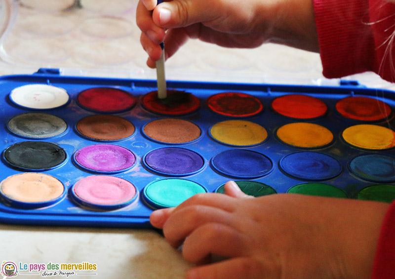 palette de peinture à l'eau Giotto