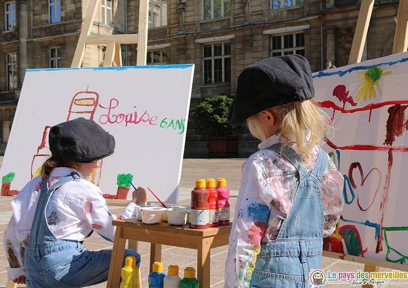 Peindre la réalité avec des enfants