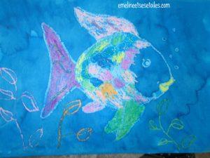 activité enfant poisson arc-en-ciel