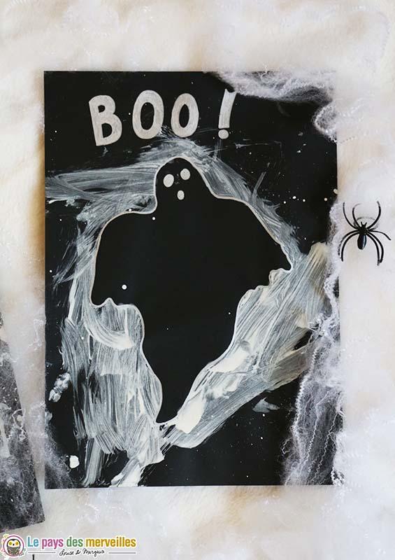 Activité halloween silhouette de fantôme