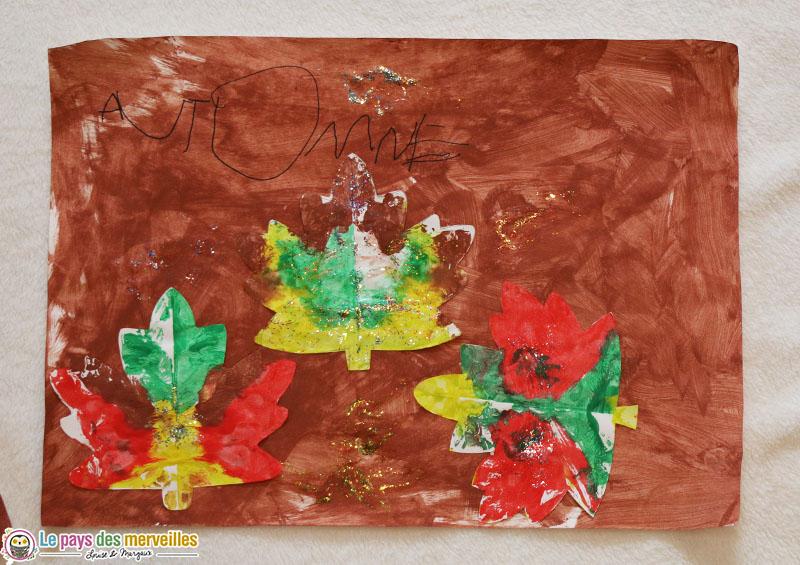 art visuel sur le thème de l'automne en maternelle