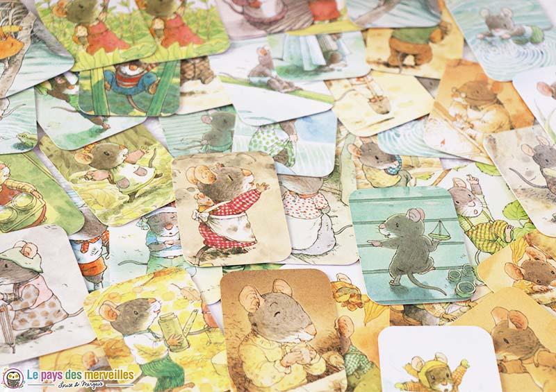 Images du jeu de loto de la famille Souris