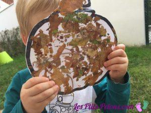 citrouilles collage feuilles