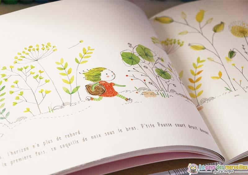 Illustration dans le livre P'tite Pousse