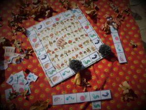 jeu fait maison sur le thème de l'automne