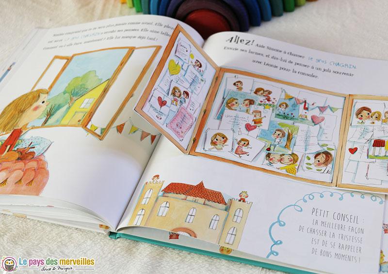 Un livre interactif sur le thème des émotions des enfants